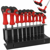 Imbusz kulcs készlet T-nyéllel 2-10mm