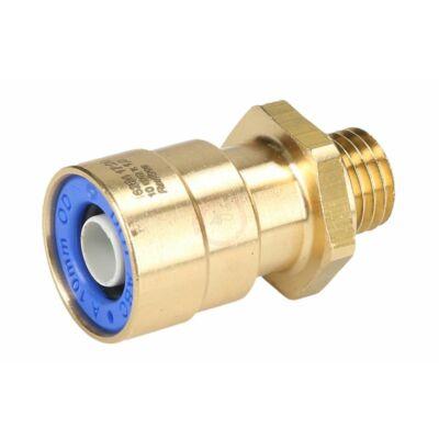 Külsőmenetes csatlakozó, egyenes 10x1-M12*1,5mm
